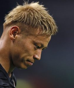 "–{""cŒ—S/Keisuke Honda (JPN), SEPTEMBER 1, 2016 - Football / Soccer : FIFA World Cup Russia 2018 Asian Qualifier Final Round Group B between Japan 1-2 United Arab Emirates at Saitama Stadium 2002, Saitama, Japan. (Photo by Yusuke Nakanishi/AFLO SPORT)"