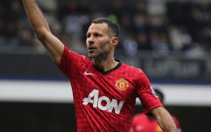 LONDON, ENGLAND - FEBRUARY 23:  Ryan Giggs of Manchester United celebrates a goal during the Barclays Premier League match between Queens Park Rangers and Manchester United at Loftus Road on February 23, 2013 in London, England.  (Photo by Ian Walton/Getty Images)