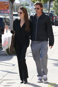 Los Angeles, CA - Angelina Jolie steps out with her main man Brad Pitt and head to La Luz De Jesus Gallery and stopped at  Ozzie Dots to check out  some costumes.  Are Brad and Angelina planning a costume party for Angelina's 36th birthday? GSI Media    May 25, 2011 To License These Photos, Please Contact : Steve Ginsburg (310) 505-8447 (323) 4239397 steve@ginsburgspalyinc.com sales@ginsburgspalyinc.com or Keith Stockwell (310) 261-8649 (323) 325-8055  keith@ginsburgspalyinc.com ginsburgspalyinc@gmail.com