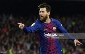 during the La Liga match between Barcelona and Real Madrid at Camp Nou on May 6, 2018 in Barcelona, Spain.