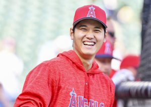 Apr 11, 2018:  Los Angeles Angels starting pitcher Shohei Ohtani #17 during an MLB game between the Los Angeles Angels and the Texas Rangers at Globe Life Park in Arlington, TX Los Angeles defeated Texas 7-2 Albert Pena/CSM.(Credit Image: © Albert Pena/Cal Sport Media)