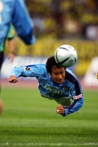 '†ŽR‰ëŽj/Masashi Nakayama (Jubilo),  MAY 1, 2005 - Football : Masashi Nakayama of  Jubilo Iwata in action during the 2005 J.LEAGUE Division 1 between Kashiwa Reysol 0-4 Jubilo Iwata  at Kashiwanoha Stadium, Chiba, Japan.  (Photo by Jun Tsukida/AFLO SPORT) (003)